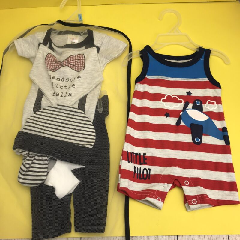 Baby Boy Clothes 0-3 Months Lot New 2 Outfits