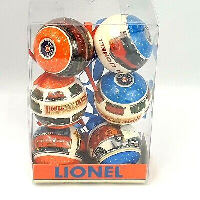 Lionel Train Set Of 6 Round Christmas Tree Ornaments In Package