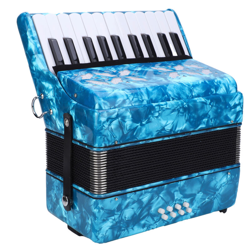 Piano Accordion 8 bass 22 Keys with Hard Carry Case and Manuals