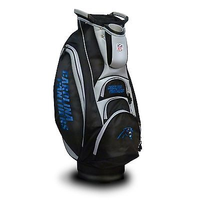 NEW Team Golf NFL Carolina Panthers Victory Cart Bag (Carolina Panthers Golf Cart Bag)