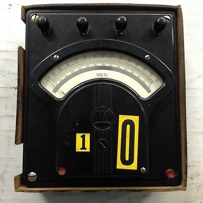 Vintage Westinghouse Portable Voltmeter Type Pa-5 Bakelite