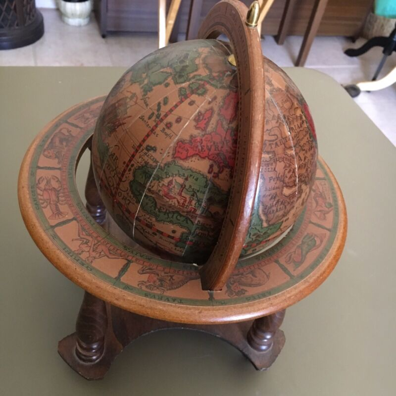 Old World Vintage Terrestrial Globe Reproduction originally Made in 1507 Italy.