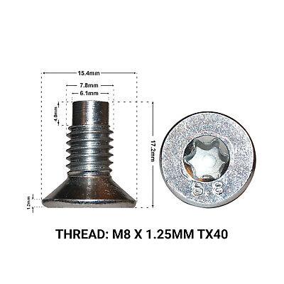 2X FRONT BRAKE DISC RETAINING SCREWS FITS: RENAULT TRAFIC 01- DRS1663F