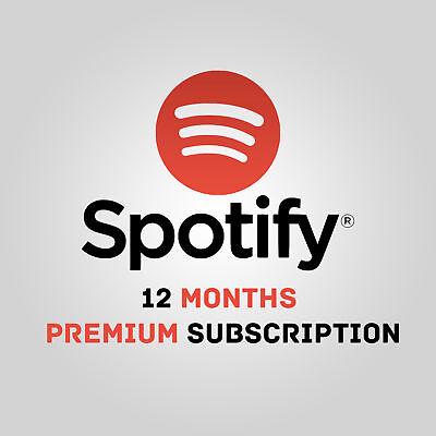 Spotify Premium 1 Year  12 Months  Worldwide