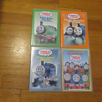 4 Thomas and Friends DVD Percy save day halloween 10 years snowy surprise LOT #5](Halloween 10 Days)