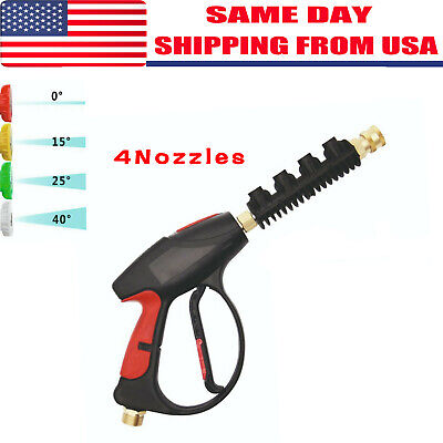 High Pressure Power Washer Gun Water 4000 PSI 4-color Nozzles tips Best (Best Pressure Washer Gun)