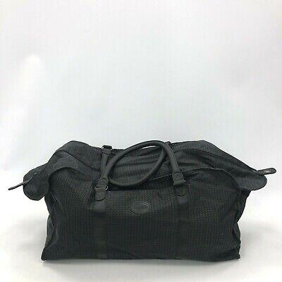 Aramis Bag Large Duffle Style Overnighter Zipper Gym Travel Textile Black 301130