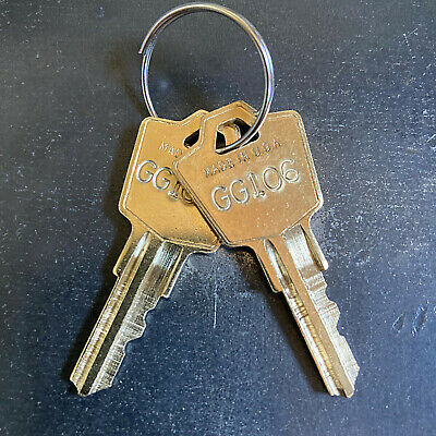 2 Hon Filing Cabinet Replacement Keys From Key Code Gg101 - Gg200 - Free Track