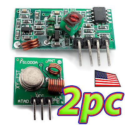 2pcs 433mhz Radio Link Rf Transmitter Receiver Remote Module Kit For Arduino