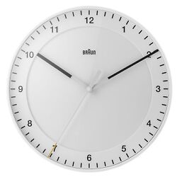Braun BNC017 Wall Clock White 30cm