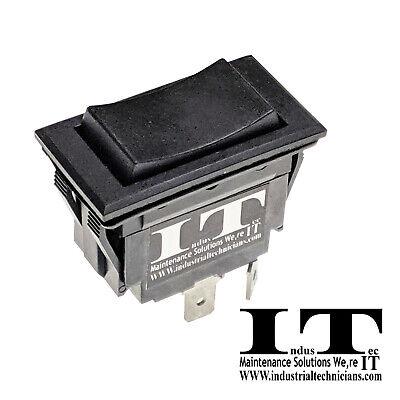 Industec 30a Rocker Switch - Polarity Reversing Dc Motor Control Momentary 12v