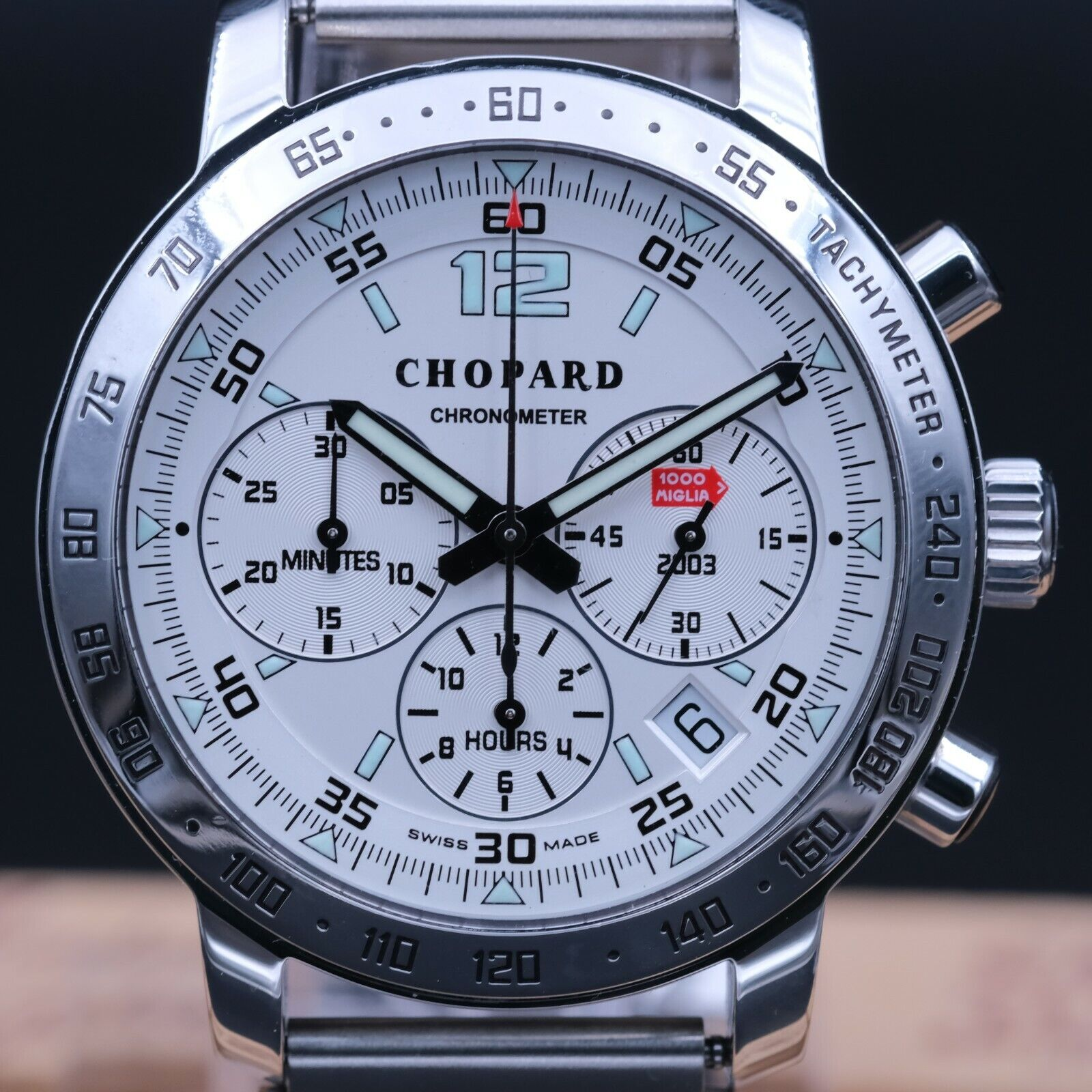 AUTHENTIC MINT CHOPARD MILLE MIGLIA CHRONOGRAPH REF 8932 42MM, CP_669087 - watch picture 1