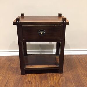 Vintage side table/night table with drawer and lower shelf