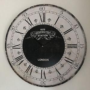 Large Round Vintage Kensington London Station Wall Clock 60cm Large wall clock