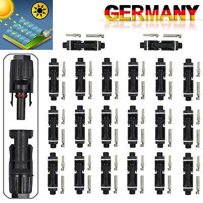 10 Paar M/F mc4 Männlich Weiblich 30a Kabel Anschluss Set Solar Panel DE