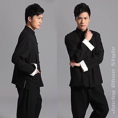 Chinese Traditional Style Jackie Chan Kung Fu Suit Tai Chi Uniform Coat Jacket
