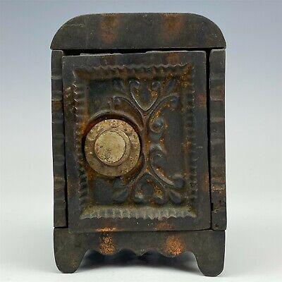 Antique Cast Iron Mini Miniature Toy Safe Lock Coin Money Savings Piggy Bank 007