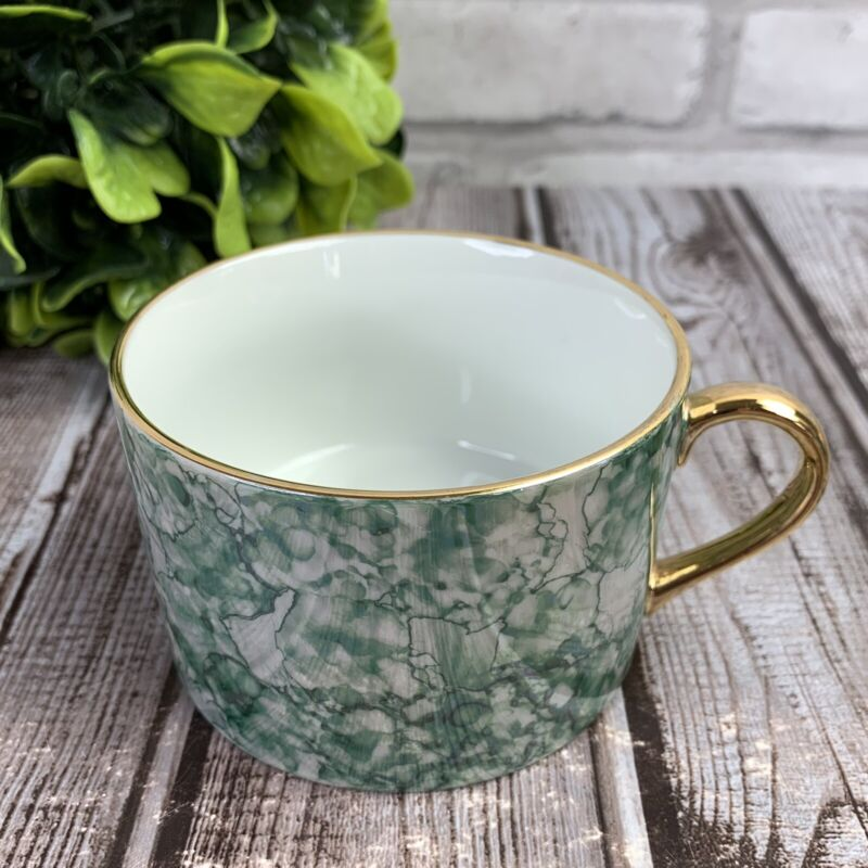 Lusterware Green Marble Tea Cup ONLY Fine Porcelain Herman Dodge Made Japan