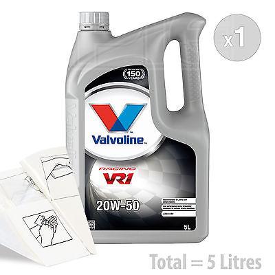 Car Engine Oil Service Kit / Pack 5 LITRES Valvoline VR1 Racing 20w-50 5L