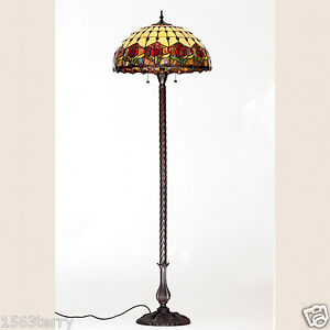 RED Tulip Tiffany Style Floor Lamp Lead Light Will Ship Australia