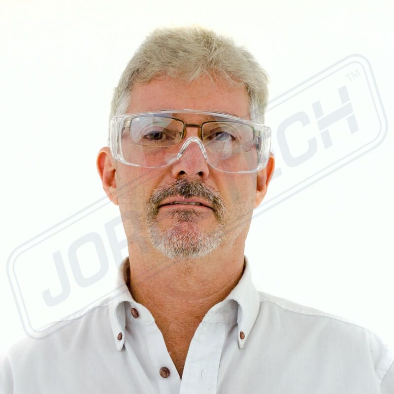 JORESTECH CLEAR LENS SAFETY FITS OVER GLASSES UV