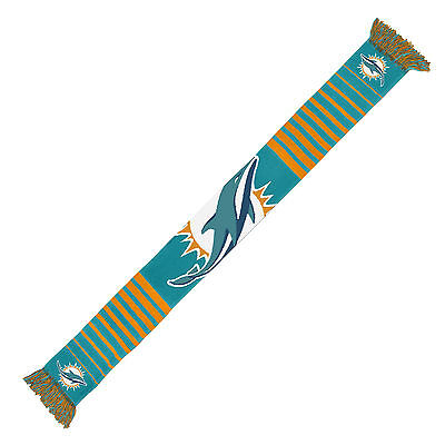 (Miami Dolphins Scarf Knit Winter Neck NEW - Big Logo - Team Colors)