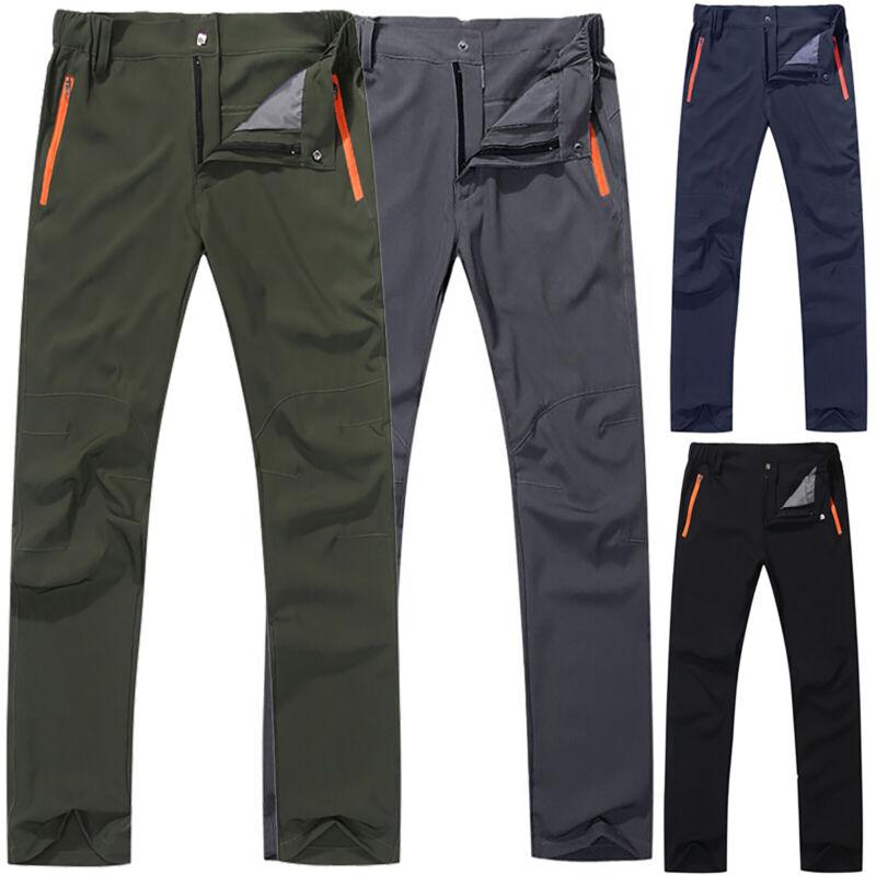 Mens Tactical Hiking Climbing Pants Outdoor Combat Cargo Wor