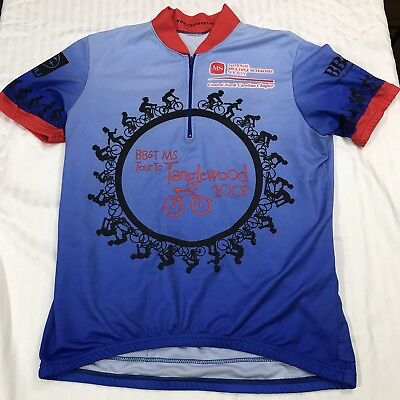 29446e0d956 Revi Bike Cycling Racing Jersey Shirt Men L Blue BB&T MS Tour To Tanglewood  2001