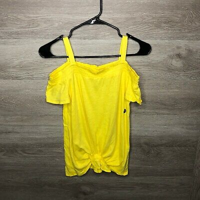 Abercrombie Kids 13/14 Off Shoulder Yellow Blouse Top -