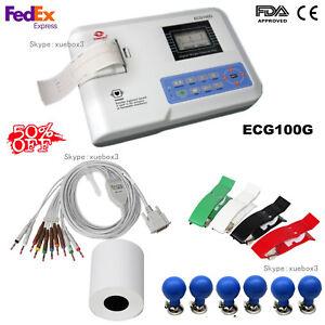 CONTEC Single Channel 12 lead ECG/EKG electrocardiograph, ECG100G, USA SALE HOT