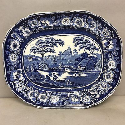 "Staffordshire Pearlware Platter 17""x14.5"""