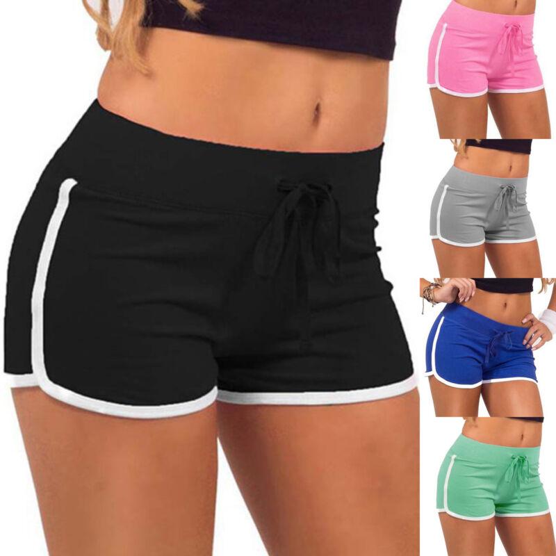 Damen Frauen Sport Shorts Kurze Hose Gym Fitness Sommer Strand Hüfthose Panty