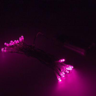 3m 30 LED Lichterkette Lichter Deko Beleuchtung pink mit Batterie-Betrieb Innen
