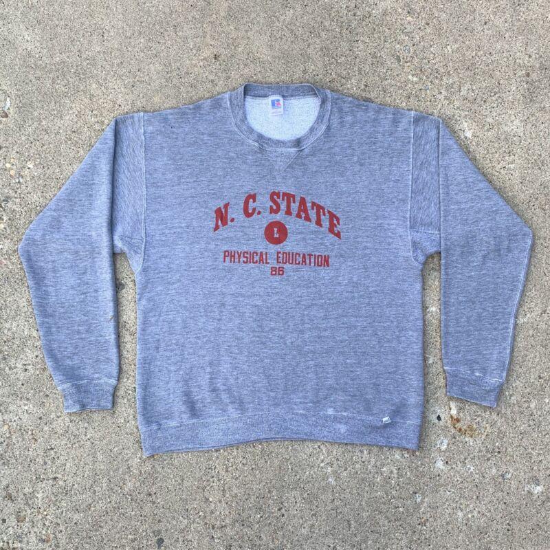 Vintage 80's Russell Athletic Gray Tri Blend Crewneck Sweatshirt Size Large