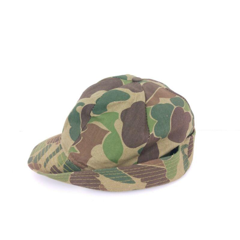 Original Jones Hat Cap Vintage 80s Duck Camo Bucket Hunting Made In USA XLarge