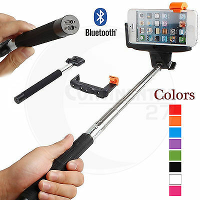 Monopod Selfie Stick Telescopic Bluetooth Wireless Remote For iPhone 8 7 6s 5s