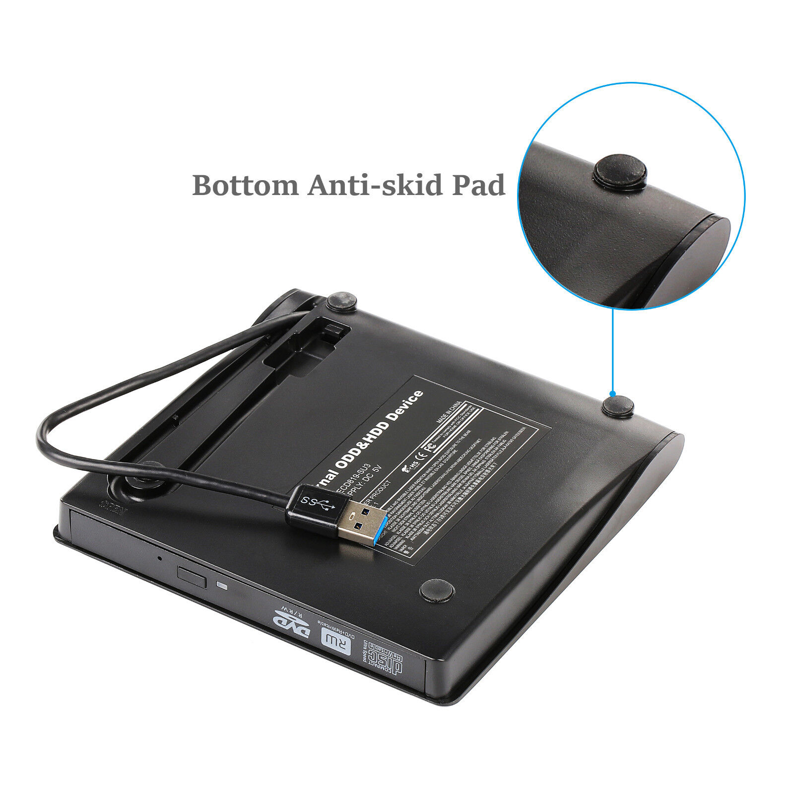 Slim External USB 3.0 DVD RW CD Writer Drive Burner Reader Player For Laptop PC CD, DVD & Blu-ray Drives