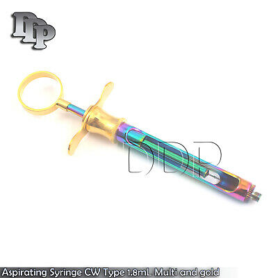 Aspirating Syringe Cw Type 1.8ml Multi And Gold Plated Dental Insturments