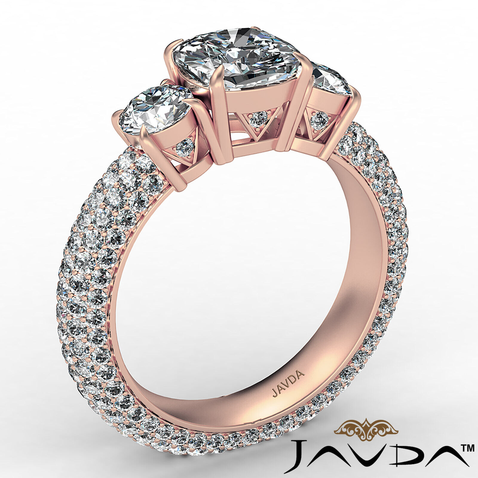 Cushion Diamond Engagement Ring Certified by GIA, G Color & SI1 clarity 3.44 ctw 5