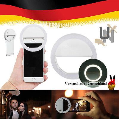 LED Selfie Flash Light Ring Fill Blitz Kamera Fotografie Strahler Ringlicht Weiß Fotografie Flash
