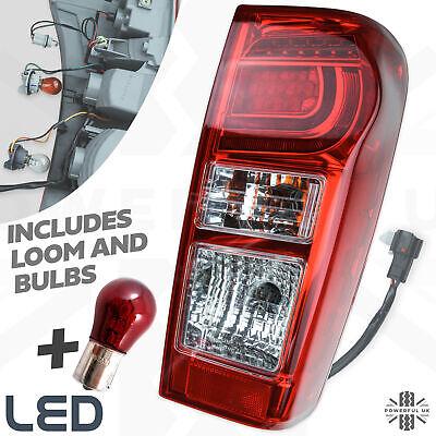 Rear LED tail Light lamp Isuzu Rodeo DMax pickup 2012> lens Right RH +loom+bulbs