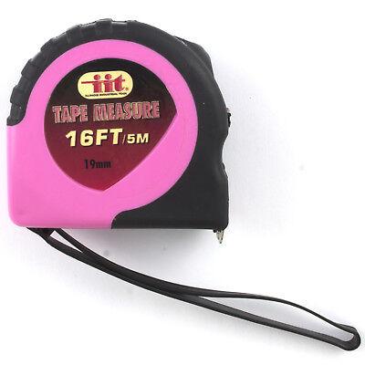 - 16' ft LADIES PINK RETRACTABLE POWER LOCK TAPE MEASURE Tool Women Girl