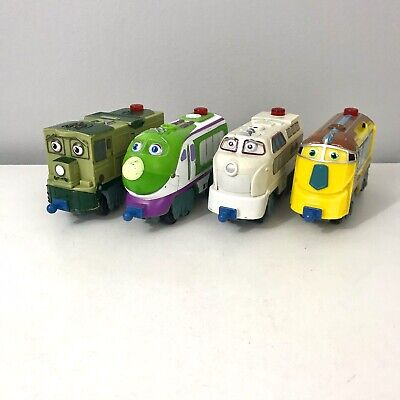 Lot of 4 Chuggington Motorized Trains Engines Light & Sound Learning Curve 2010