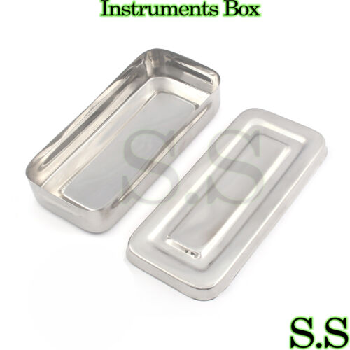 "7""x3""x1.5"" Surgical Instruments Box Stainless Steel High Quality"