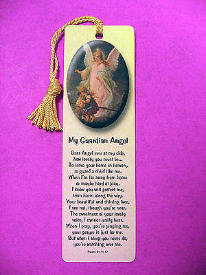 """My Guardian Angel""  Poem on a Tassel Bookmark (maise tassel) - Sku# 533"