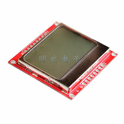 8448 Lcd Module Blue Backlight Adapter Pcb For Nokia 5110 Arduino
