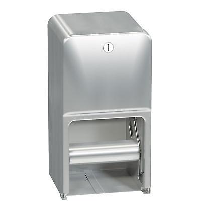 Bradley 5A10-11 Diplomat Toilet Tissue Dispenser Stainless Steel Dual Roll