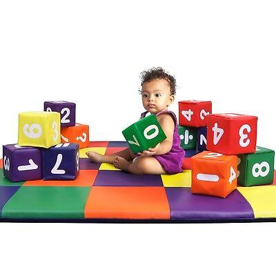 Dream Tree Kids Blocks Number Set Washable Non Toxic Educational Playroom Gift