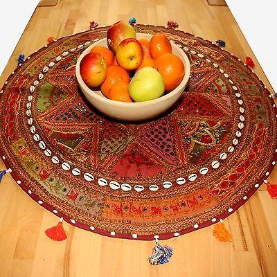 Wandteppich Tischdecke Indien Beduinen-Wandbehang rund Nr.23 goa  hippie Teppich
