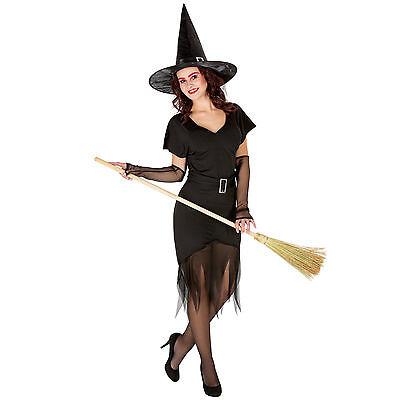 Sexy Zauberin Hexe Kostüm Karneval Fasching Halloween Kleid Frauenkostüm Damen ()